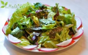 salata de primavara cu sos de mustar
