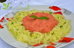 spaghete din dovlecel crud raw hrana vie