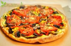 pizza in stil vegan