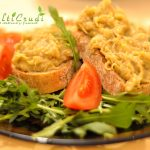 Salata de vinete pe pat de rucola ... pentru un gust desavarsit (Vegan)